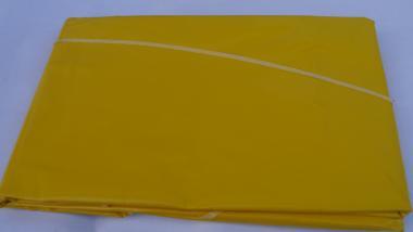 GelbeOvale Lacktischdecke 210/160 cm Rechteckige 160/130-Farbe Gelb-Wachstuch-abwaschbar Tischdecke