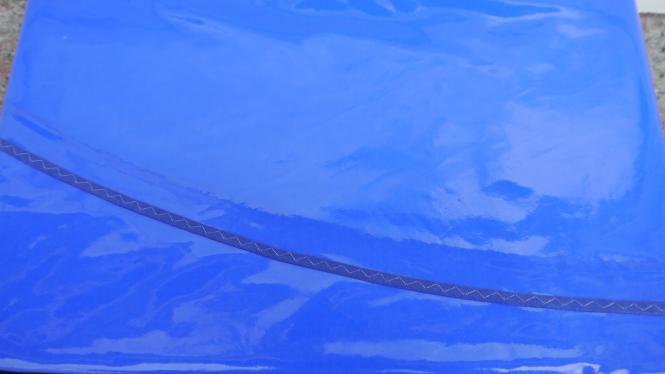 OvaleSchmutzabweisende  Lacktischdecke Runde 160/210 cm-Farbe-Adria-Blau-Wachstuch 1 B-Ware