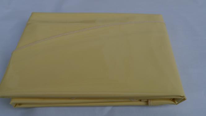 Schmutzabweisende Ovale Lacktischdecke Tischbelag 160/210 cm-Farbe Vanille-Wachstuch 1 B-Ware