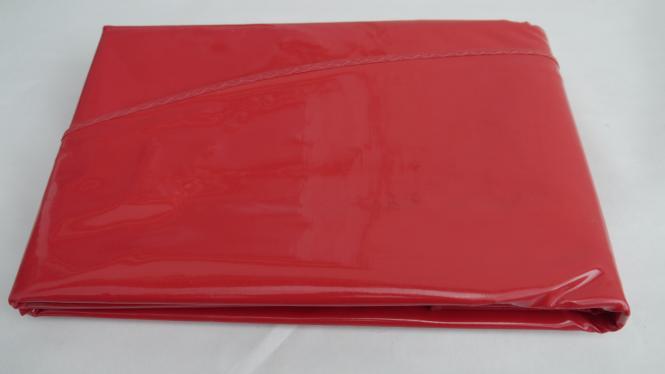 Ovale Rote Lacktischdecke Tischbelag 160/210 cm-Farbe Rot-Wachstuch 1 B-Ware