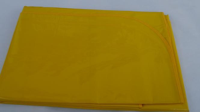 Schmutzabweisende Rechteckig Lacktischdecke Tischbelag 160/130 cm-Farbe Gelb-Wachstuch 1 B-Ware