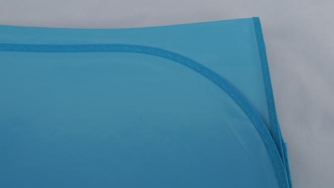 Schmutzabweisende Rechteckig Lacktischdecke Tischbelag 160/210 cm-Farbe Hell-Blau-Wachstuch 1 B-Ware