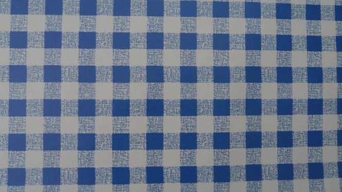 Blau Karrierte Tischdecke-Wachstuch.Tischbelag- in Rund oder Eckig