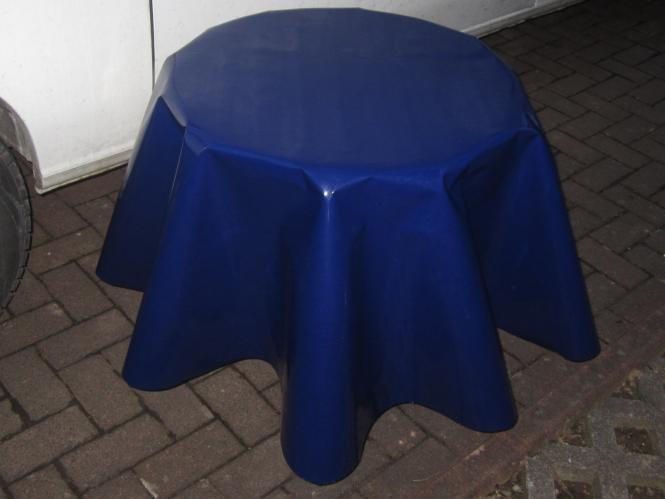Schmutzabweisende Ovale Lacktischdecke 210/160 cm-Farbe Dunkel Blau-Wachstuch